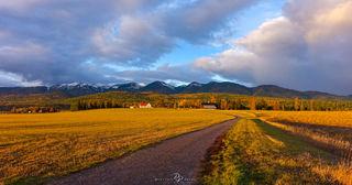 Whitefish, Montana, Golden Hour,