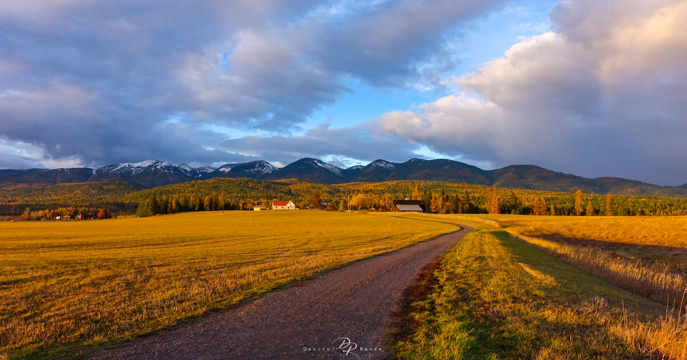 Whitefish, Montana, Golden Hour,, photo
